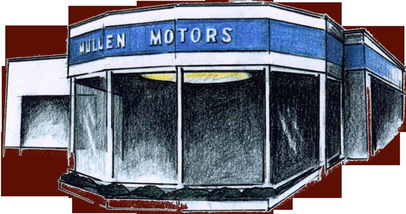 The Mullen Motors showroom